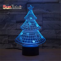acrylic led christmas tree - Chrismas Tree D Illusion Light cm Laser Engrave D Christmas LED Novelty Night Light with Acrylic