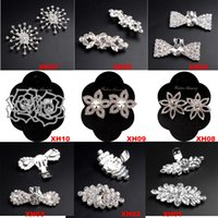 Wholesale 2017 Chic Luxury Sparkling Rhinestone Crystal Wedding Bridal Silver Tone Shoe Charm Clips Pair Boots Shoe Clips Buckle decoration Jewelry