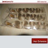Wholesale Bleach Blonde Brazilian Hair Human Virgin Hair Extensions A Brazilian Body Wave human hair wefts