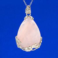 balance pendant - musiling Jewelry Natural Gem Stone Pendants Water Drop Pendant Energy Balance Reiki Pendulum Charms Healing Chakra Amulet Jewelry