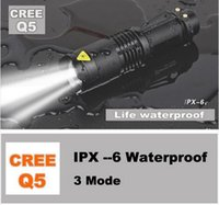 Q5 LED LED Flashlights Hot selling UK USA High-quality Mini Black CREE 2000LM Waterproof LED Flashlight 3 Modes Zoomable LED Torch penlight Free Shipping