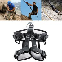 Wholesale Hot Sale Safety Belt Body Harness Outdoor Mountaineering Rock Climbing Harness Protect Waist Seat Belt Multi Tools MA0289