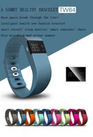 Wholesale RB TW64 New Multi Functions Wristband Smart Band For iPhone S Android IOS Waterproof Tracker Fitness Wristbands Smart Watch