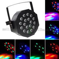 Wholesale 2017 NEW W X3W Led Par Lights RGB Stage Lighting DMX512 Led Lights For Party KTV Disco DJ Lighting AC V MYY