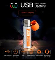 aa direct - 2Pcs set Creative USB AA Battery Rechargeable Battery V mAH Large capacity USB Direct Charging Battery