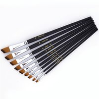 Wholesale 2017 HOT Paint Brush Oil Acrylic Paint Brush Watercolor Brush Nylon Hair Drawing Tool Art for Supplies
