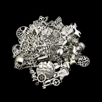 Wholesale Mixed Antique Silver Plated Anchor Love Compass Cat Angel Butterfly Charms Pendants Jewelry Making Craft Handmade DIY styles