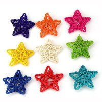 rattan plaited articles art wooden box - 10pcs cm Simulation Wooden Stars Home Decorations for Wedding Garden Decoration Party Supplies Home Accessories