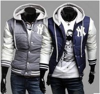 Wholesale Foreign delivery Winter New York Yankees baseball NY logo Hooded personality style cotton men s