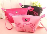Wholesale Women Portable Cute Cartoon Hello Kitty Cosmetic Bag Multifunction Beauty Zipper Travel Make Up Toiletry Pouch Cosmetic Case
