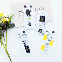 Wholesale G33 pack Kawaii Cute Lemon Bear Magnetic Bookmarks Books Marker of Page Stationery School Office Supply Student Rewarding