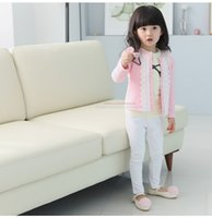 Wholesale The spring and autumn period and the new children s wear children s cardigan Girls lace collar on the new coat