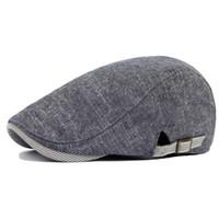 beret fabric - Linen Fabric Men s Hats Forward Beret Caps Breathable Boinas Feminina New Fashion Visors Sun Hats for Women Female HT51047