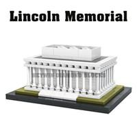 Wholesale Plastic toys LOZ hot products lincoln memorial mini model diamond blocks bricks set