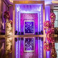 Wholesale Wholsale price Meters Mirror super bright props width m silver purple bi sided wedding decoration carpet