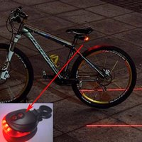 Wholesale High Quality LED Laser Bike light Flash Mode Cycling Safety Bicycle Rear Lamp waterproof Laser Tail Warning Lamp Flashing