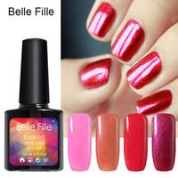 HarmonySS belle nail art - Belle Fille Gel Nail Polish Fashion Colorful One Step Gel Polish Nail Gel Soak Off UV nail Art Varnish Long Lasting