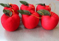 apple tree products - Red apple Christmas decorations products Holiday party Christmas tree pendant New Year gifts toys CM HY1297