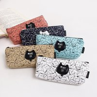 Wholesale New Arrival PC Cute Creative Private Cats Canvas Pencil Bag Stationery Storage Organizer Bag School Supply Student Prize