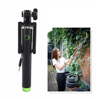 blue, purple,green,yellow,black   Wired Handheld Selfie Monopod Steel Black Selfie Monopod with USB Charger Cheap Travel Tools Hot Sale A01