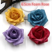 Wholesale Foam Stain Rose Artificial Flower For Wedding Party Plants Decoration Marriage Pompom Cloth Accessories Fake Rosa Flower