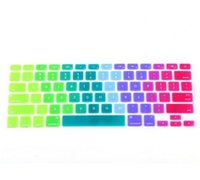 Wholesale Colorful Silicone Keyboard Cover Keypad Skin Protector For Apple Macbook quot quot quot Rainbow Laptop Keyboard