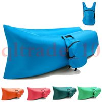 Sofá de aire inflable incluye bolsa de transporte con varios bolsos bolsa de dormir Laybag Cama perezosa salón de aire silla sofá de camping portátil HHA1138