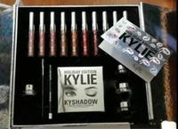 big eye shadow - Newest KYLIE Holiday Edition Big Box include color matte lipgloss Lipsticks Shadow Palette cream shadow eye linner