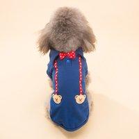 Hipidog Pet Dog Printemps Été Sport Collier avec cravate avec cravate Vêtements Costume XXS-L Bleu Rouge pour le choix
