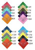 Wholesale New colors Cotton Women Men Bandanas Boy Hip Hop Bandana Headwear Men Bands Scarf Kerchief
