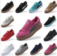 ballet box shoes - 2017 With Shoes Boxes Suede Creeper Black Star White Black Women Men Casual Shoes Fashion Ladies Rihanna shoes sneakers women men