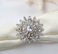 Wholesale New Hot Sale Rhinestone Napkin Ring Serviette Holder Napkin buckle for Wedding Party Decoration