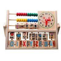 abacus maths - Wooden Maths Toy Children Baby Kids Learning Developmental Versatile Flap Abacus Wooden Puzzles Toys