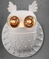 animal knobs - Euro America Creative Aisle Corridor Owl Wall Lamp Simple Children s Room Animal Wall Lights American Bedroom Bedside Lamps MYY