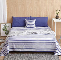 Wholesale Summer sleeping mat Old Coarse Cloth hand woven cotton Bedding article White and blue stripes Improve sleep