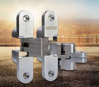 Wholesale Outside door invisible door hinges closed automatic folding hidden type cross spring hinge degrees open