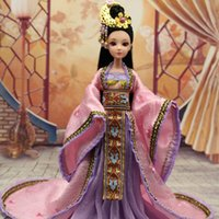 ancient china costumes - New Handmade cm Chinese Ancient Costume New Moon Princess Doll Moveable Jointed Body Bjd Dolls Girl Toys Birthday Christmas Gifts