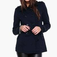 belted blazer - Women s Wool Coat Double Breasted Button Up Jacket Belted Blazer Winter Fashion Casual OVercoat Wool Blends L85