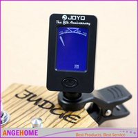 Wholesale JOYO Clip on Electric Tuner for Guitar Chromatic Bass Violin Ukulele Universal Portable Guitar Tuner with Retail box