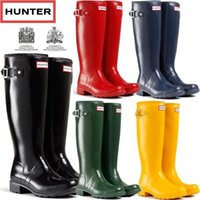 Wholesale hunter rain boot Wellies Waterproof for Women Rain boots Knee Over Outdoor shoes Size Colors mix order hunter boots sale