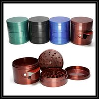 alloy window - Newest PC Metal Grinder mm with Side Window Open Storage Box quot Inch Layer Parts Zinc Alloy Herbal Smoking Grinders