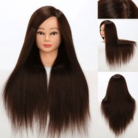 Women animal practices - 22 quot Professional Mannequin Training Head With Hair Brown Cosmetology Mannequin Head With Synthetic and Animal Hair Training Practice Head