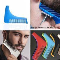 Wholesale 500 Bro beard Beard Bro Beard Shaping Tool for Men perfect Lines Hair fashion Trimmer Trim Hair Cut Gentleman Modelling Combs B0900