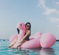 Wholesale 150cm Leisure Giant Swan Pool Flamingo Float New Swan Inflatable Floats Swimming Ring Raft swimming pool toys For Kids And Adult