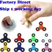 Wholesale In stock Tri Spinner Fidget Toy Plastic EDC Hand Spinner For Autism and ADHD Rotation Time Long Anti Stress Toys