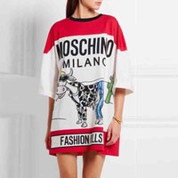 Wholesale Mos Spring and Summer Fashion Casual Women T Shirt Long Section Large Size Loose Cotton Short sleeved T shirt Women Tee Shirt Tops