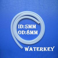 Wholesale 5 mm Food Grade Silicone Rubber Flexible Hose Pipe Tube Silicone Hose mm Internal Diameter mm Outside Diameter