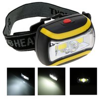 Wholesale W modes LED Headlight lamp Lightweight Outdoor water resistant Headlamps with adjustable strap for Fishing Camping Lighting
