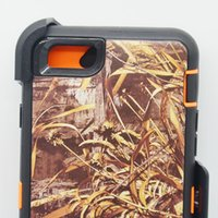 al por mayor iphone pinza caso camo-Con la caja al por menor para el iPhone 6s del iPhone 4s Cubierta del caso de 4,7 '' Realtree con la cubierta de la armadura de la protección robusta híbrida de la correa