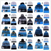 Wholesale Sport KNIT CAROLINA PANTHER Beanies Team Hat Winter Caps Popular Beanie Sports Clubs Fix New season Gift Present Christmas